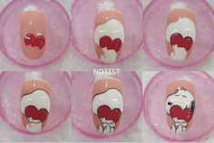 Новости Valentine Nail Art, Easter Nail Art, Nail Drawing, Nail Art Techniques, New Nail Designs, Painted Nail Art, Girls Nails, Disney Nails, Christmas Nail Art