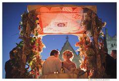 Sharing ideas destinationweddings.travel Let us make it happen: Orthodox Jewish Wedding Ceremony Quilted Chuppah #alltravelersallowed