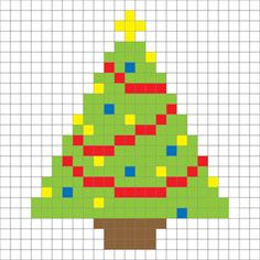 Crochet Christmas Tree Pixel Square - Repeat Crafter Me