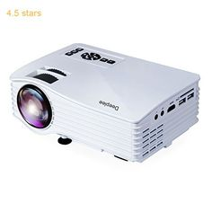 Deeplee DP36 LED LCD Mini Projector 120 Home Theater Video Projector with AV USB SD Card HDMI for Home Cinema Video Game Courtyard Movie Night support PC Laptop PS3/PS4 Xbox Wii Projector (DP36 White)