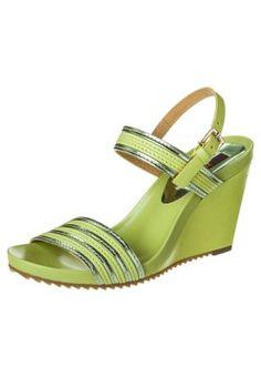 Sandaler m/ kilehæl - grøn