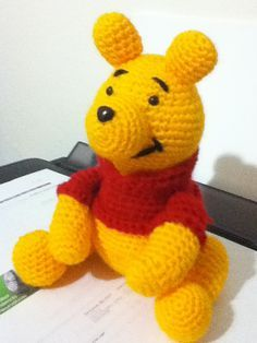 FREE Winnie the Pooh Amigurumi Crochet Pattern and Tutorial by Cherry Marjo