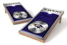 Baltimore Ravens Single Cornhole Board - Medallion