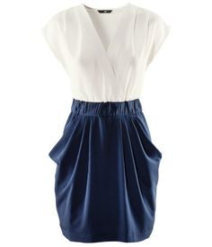 Navy and White Dress H
