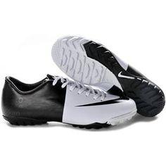 http://www.asneakers4u.com Nike Mercurial Vapor III TF Indoor White and Black  Nike Turf Football Cleats