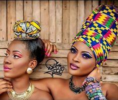 ♥Wrap African Style ● ankara & kente