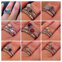 Pandora rings. Stack :)                                                                                                                                                                                 More