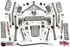 "1999-2004 Jeep WJ Grand Cherokee 4"" Long Arm Lift Kit w/N2.0 Shocks 908.20 #RoughCountry"