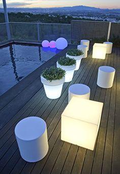 Trend Cuby Sitzw rfel LED Hocker Outdoor Lounge Terrasse Garten von Newgarden Au enbeleuchtung g nstig online kaufen