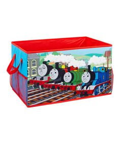 All aboard! Tuck away toys, clutter and little trinkets in this lively Thomas the Train-inspired storage trunk with convenient handles. Perfect for that cutie conductor's playroom, this brightly colored bin keeps rooms clean and organized. Toy Storage Boxes, Storage Trunk, Kids Storage, Toy Boxes, Storage Ideas, Train Bedroom, Trunk Organization, Toddler Rooms, Thomas The Train