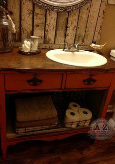 Turning a Dresser Into A Bathroom Vanity
