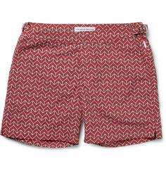 Orlebar Brown printed swim shorts, available at Mr. Gents Fashion, Swim Shorts, Swimsuits, Men's Swimwear, Menswear, Mid Length, Latex Fashion, Fashion Goth, Fashion Vintage
