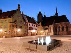 #suhl #freieswort #schmalkalden townhall church night The historic town hall of Schmalkalden