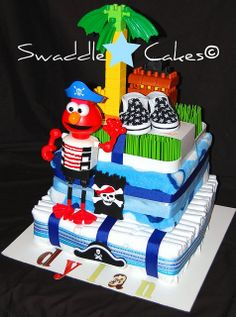 YohoYoho a Diaper Cake for Dylan! by swaddlestar, via Flickr