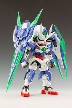 SD 00 Qan [T] Quanta with Full Saber Custom Build - Gundam Kits Collection News and Reviews
