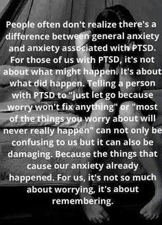 PTSD vs generalised anxiety