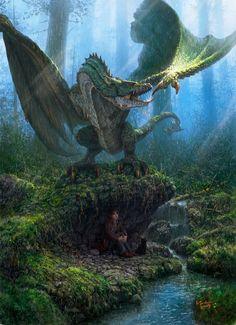 Dragón hambriento