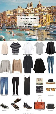 What to Pack for Malta Packing Light List What to pack for London England packing light list #travellight #packinglight #traveltips #travel #capsule #capsulewardrobe