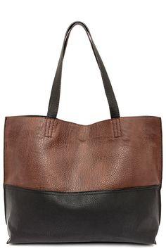 84c3d264ab Half and Half Brown and Black Tote. Tote HandbagsBrown HandbagsTote  PursePurses And HandbagsFashion HandbagsLeather ...
