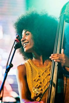 Esperanza Spalding- A beautiful person, inside and out. Very creative and oozing with talent. HH