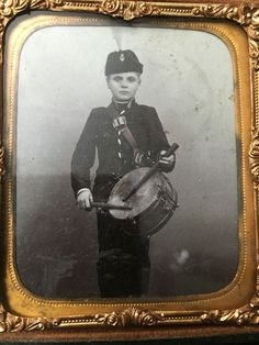 Beautiful Civil War Era Drummer Boy Photo Ornate Gutta Percha Hard Case | eBay