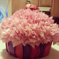 Made my very first cupcake pinata for my baby cousins cupcake themed party