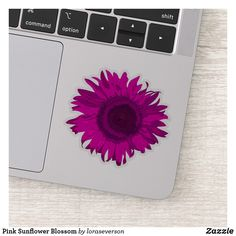 Shop Purple Sunflower Blossom Sticker created by loraseverson. Design Your Own Stickers, Custom Stickers, Pink Sunflowers, Blossom Garden, Sunflower Gifts, Gift Wrapping Supplies, Vinyl Sheets, Shape Of You, White Ink