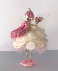 Princess flower fairy doll Angel ornament Flower fairy gift