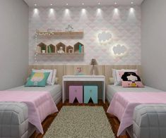 Do It Yourself nursery and also baby space decorating! Principles for you to produce a little paradise in the world for your little plan. Great deals of baby room design ideas! Kids Bedroom Designs, Baby Room Design, Baby Room Decor, Neutral Bedroom Decor, Romantic Bedroom Decor, Twin Girl Bedrooms, Girls Bedroom, Bedroom Desk, Sister Room