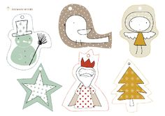 imprimibles gratis - free printables - Christmas tags