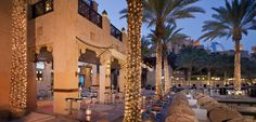Madinat Jumeirah Resort combines traditional Arabian style with luxurious comfort