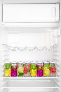 Colorful Fruit Infused Water // In need of a detox? Get your teatox on with 10% off using our discount code 'Pinterest10' on www.skinnymetea.com.au X