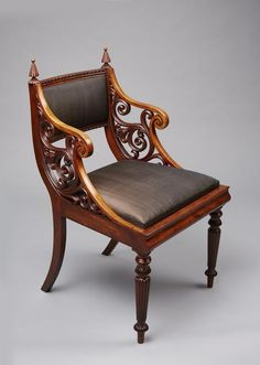 antique,armchair,empire,mahogany,gustav friedrich hetsch,copenhagen,Denmark,danish,chair,stool,settee,sofa,daybed