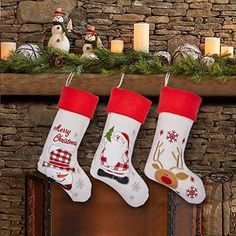 Set of 3 Christmas Stockings - Large Size 17 Inch Stocking for Kids Snowman Chr for sale online Christmas Snowman, Christmas Stockings, Xmas Gifts, Gift Bags, Luxury, Holiday Decor, Easy, Kids, Manualidades