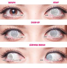 Princess Pinky Cosplay white mesh contacts with prescription