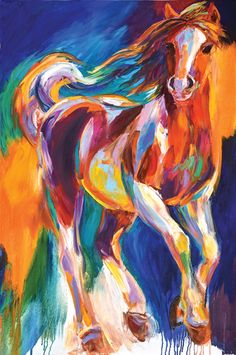 """Doing Her Happy Dance"" by Barbara Meikle  Did you know that Barbara has recently adopted a filly and saved her from slaughter? This is the first of many works inspired by her rescued bay Foxtrotter, Felina. While she's been on the road to recovery, we can already tell she will have a dancing, joyful spirit!"