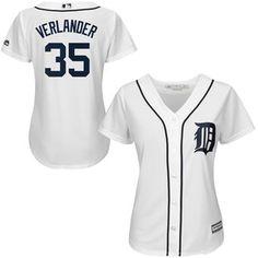 Women's Detroit Tigers Justin Verlander Majestic White 2015 Cool Base Player Jersey