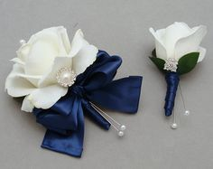 diy coursage and boutonniere idea