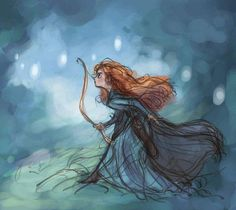 Disney Princess Merida Brave and will o' the whisps fan art
