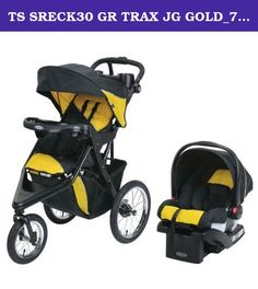 """TS SRECK30 GR TRAX JG GOLD_7CB01GDL3. The Graco Trax Click Connect Jogger Travel System stroller is filled with features for your full life. Whether you're shopping, strolling, or jogging, this stroller has the comfort and convenience to meet all your needs. The travel system includes the top-rated Graco SnugRide Click Connect 30 Infant Car Seat, which is rear-facing for infants from 4-30 lb and up to 32"""". Click Connect technology allows for a one-step, secure connection between infant…"""