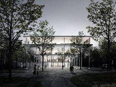 BETWEEN BOOKS AND TREES: Entrance area (Image: jaja architects)