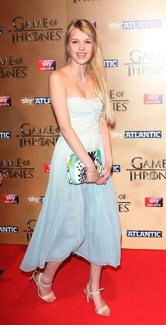 "The beautiful Brit actress Nell Tiger Free of the HBO series ""Game of Thrones"""