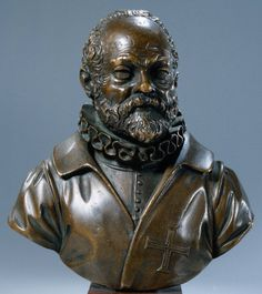 Giambologna, Self-portrait, 9 cm high, bronze, circa 1600 (Rijksmuseum, Amsterdam). Flemish mannerist sculptor Jean Boulogne (or Giambologna, as he was known in Italy) produced this very small bronze self-portrait bust around the age of 70 to commemorate his admission to the Order of Christ. More info: Charles Avery, Giambologna's Miniature Bronze Busts of Cosimo I and His Self-Portrait // Bulletin van het Rijksmuseum, Jaarg. 32, Nr. 2 (1984), pp. 55-63.