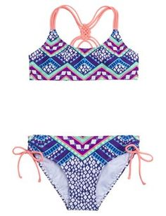 Printed Bikini Swimsuit from justice i love this swimsuit i would like it in  a size 12