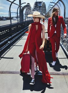 awesome Stella Lucia & Nic Smith travels in style for Vogue Australia April 2016 by Mario Testino