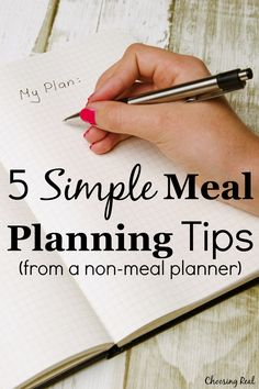 5 Simple Meal Planning Tips (from a non-meal planner) – Choosing Real – Famous Last Words Menu Planning, Party Planning, Healthy Family Meals, Healthy Cooking, Healthy Foods, Healthy Recipes, New Recipes For Dinner, Fast Metabolism Diet, Cooking On A Budget