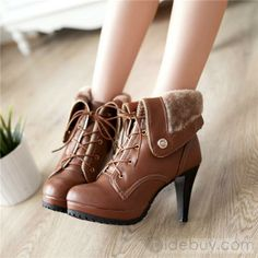 Moda All-combinadas Roman estilo fechados Stiletto calcanhar tornozelo botas: Tidebuy.com