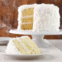 Classic Coconut Cake with Frosting
