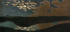 Felix Edouard Vallotton'Clair de Lune'1894.