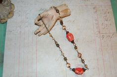 CoRaL bOhO NeCkLaCe by vintageblissjewels on Etsy, $28.00